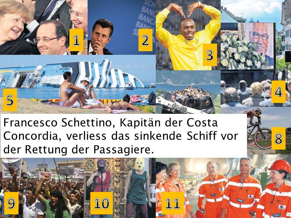 Francesco Schettino, Kapitän der Costa Concordia, verliess das sinkende Schiff vor der Rettung der Passagiere.