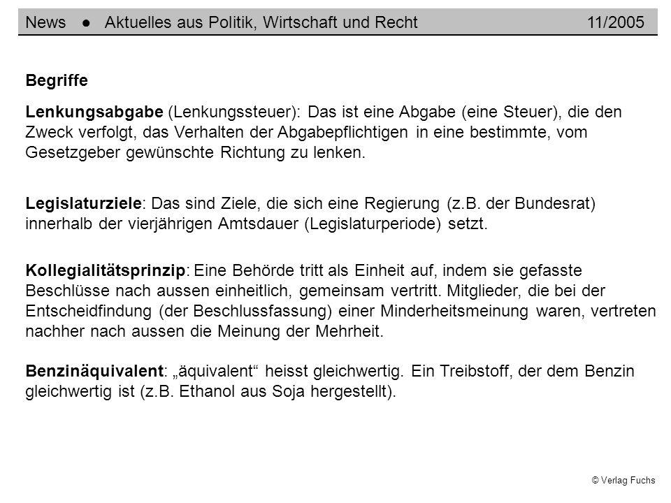 © Verlag Fuchs Lenkungsabgabe (Lenkungssteuer): Das ist eine Abgabe (eine Steuer), die den Zweck verfolgt, das Verhalten der Abgabepflichtigen in eine
