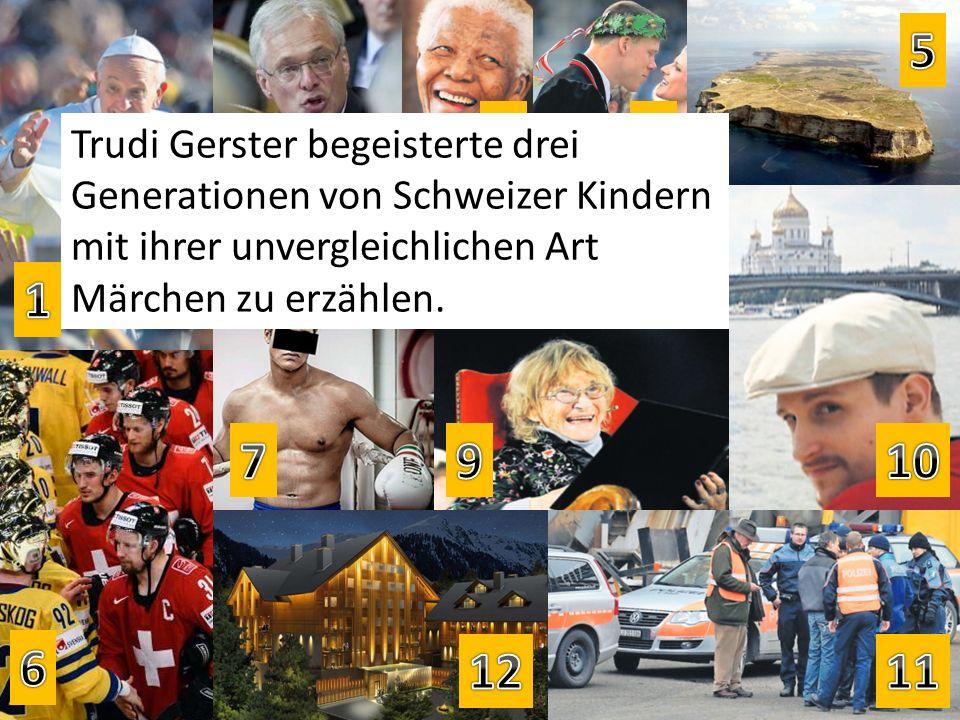 Trudi Gerster begeisterte drei Generationen von Schweizer Kindern mit ihrer unvergleichlichen Art Märchen zu erzählen.
