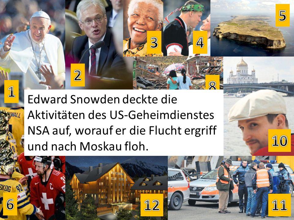 Edward Snowden deckte die Aktivitäten des US-Geheimdienstes NSA auf, worauf er die Flucht ergriff und nach Moskau floh.