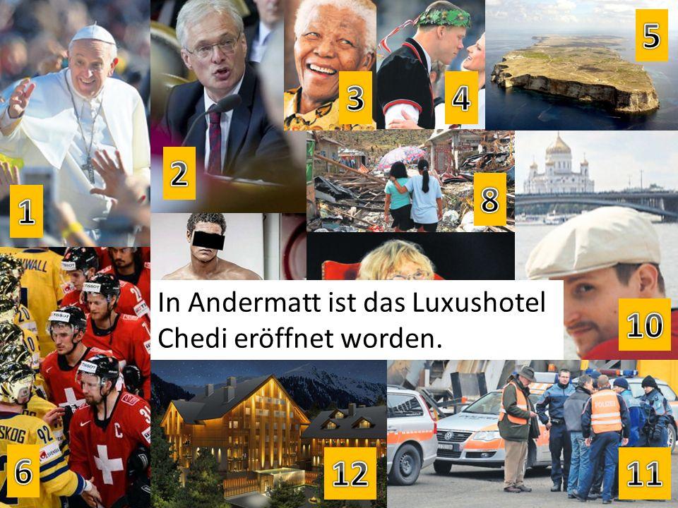 In Andermatt ist das Luxushotel Chedi eröffnet worden.