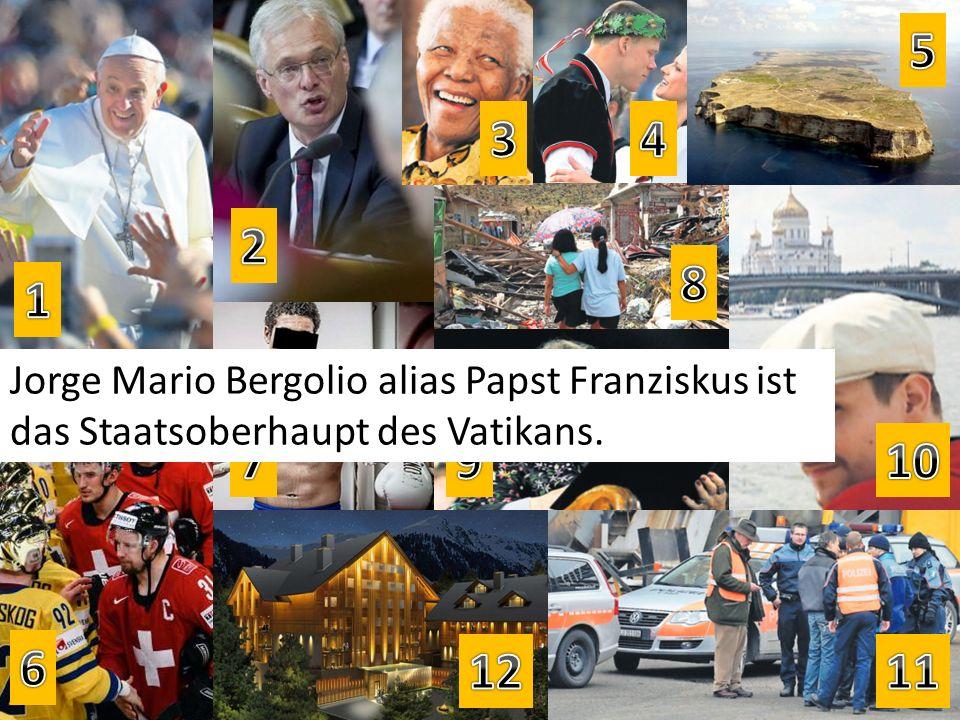 Jorge Mario Bergolio alias Papst Franziskus ist das Staatsoberhaupt des Vatikans.