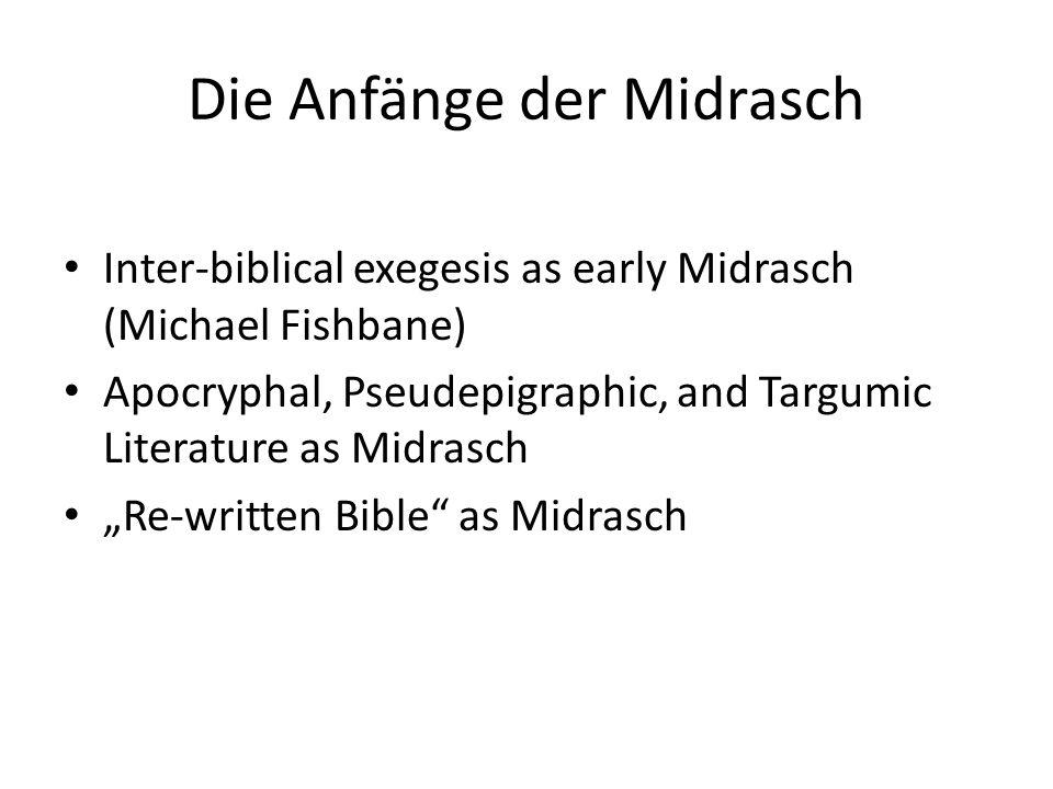 Halakhic Midrasch Already perhaps in Tannaitic period, midrashic works written to correspond with books of Pentateuch For example: Nothing on Genesis Exodus = Mekhilta de Rabbi Ishmael/R.