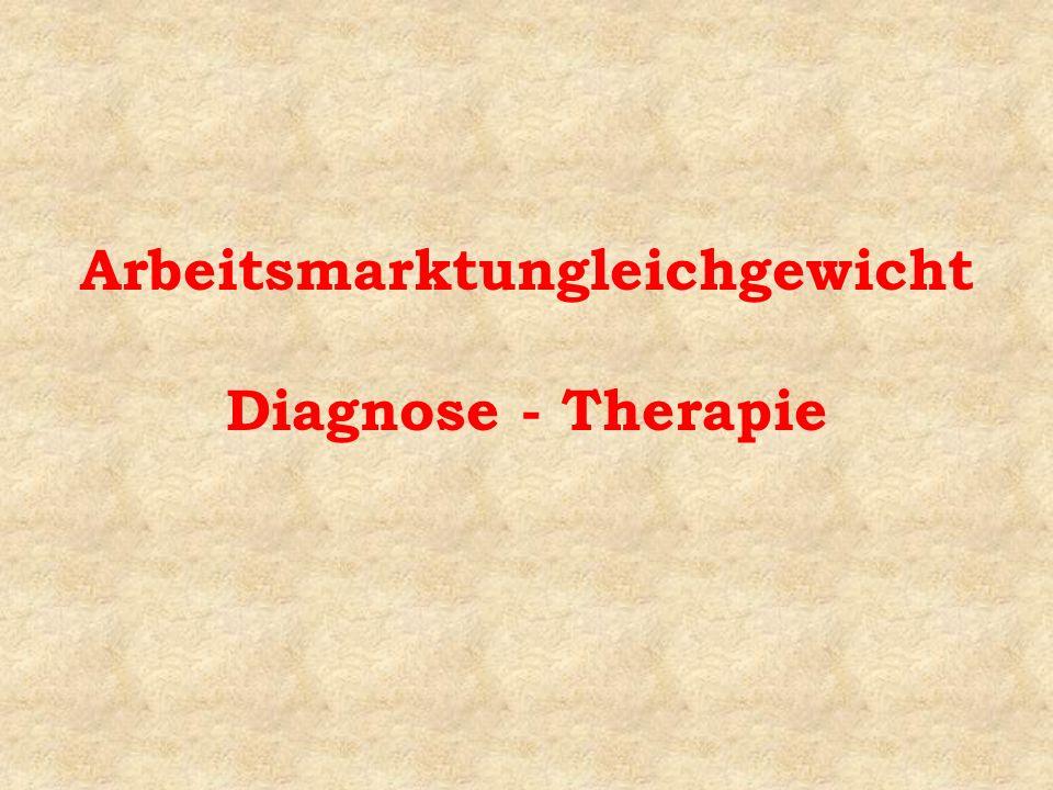 Arbeitsmarktungleichgewicht Diagnose - Therapie