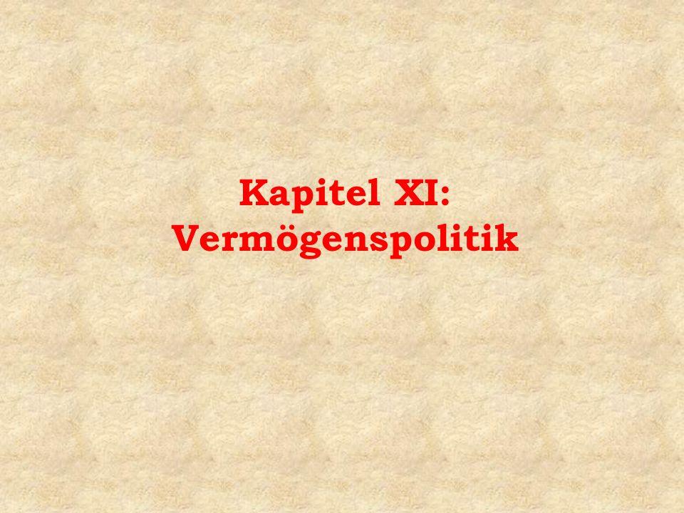 Kapitel XI: Vermögenspolitik