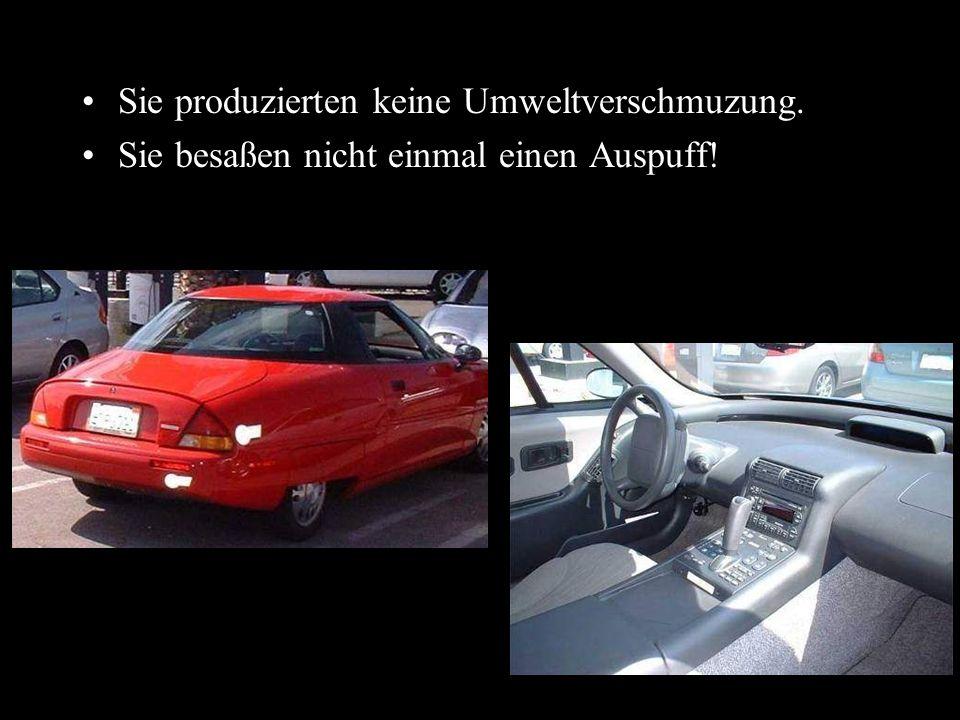 Dann stellt sich doch die Frage: Wie ist es möglich, dass diese Autos nicht weltweit vermarktet werden.