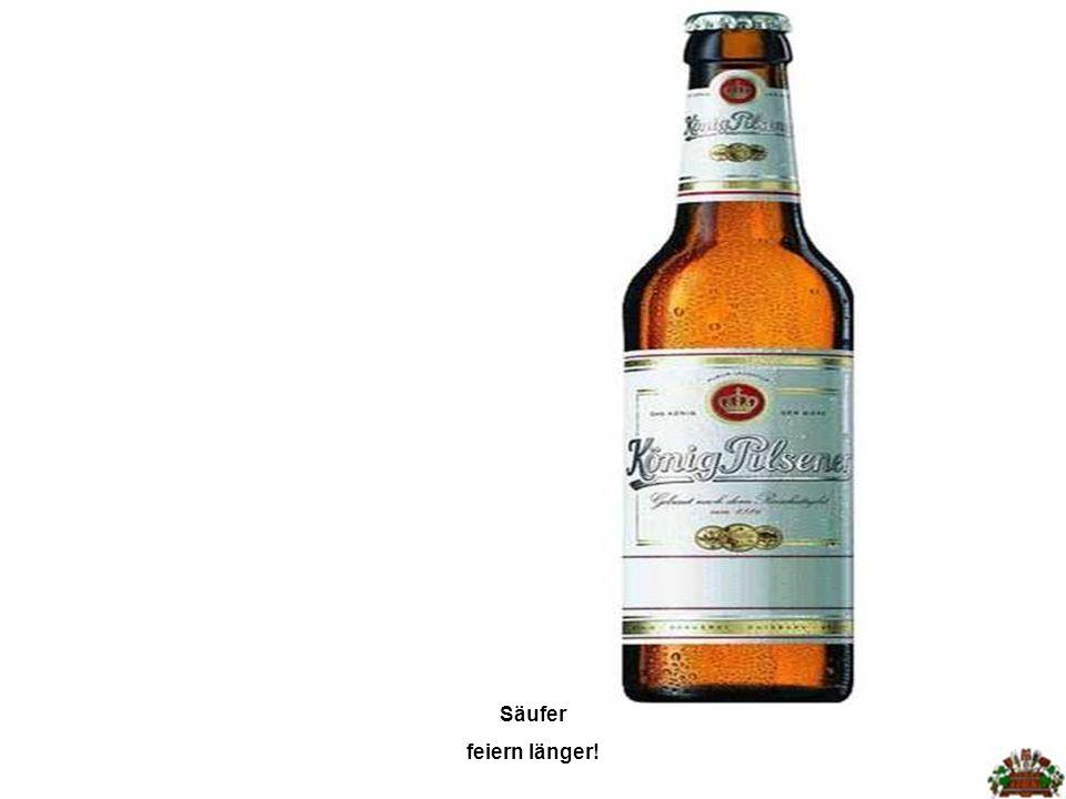 Alkohol verkürzt das Leben. Besonders in Kneipen vergeht die Zeit extrem schnell!
