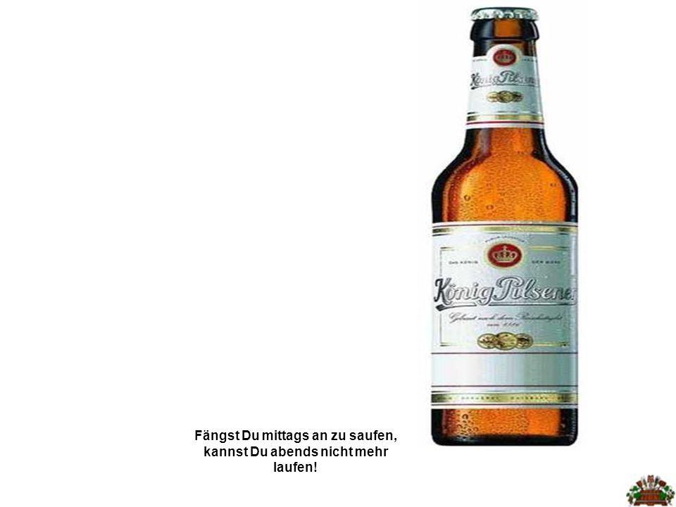 Alkoholkonsum kann zu männlicher Schein- schwangerschaft führen!