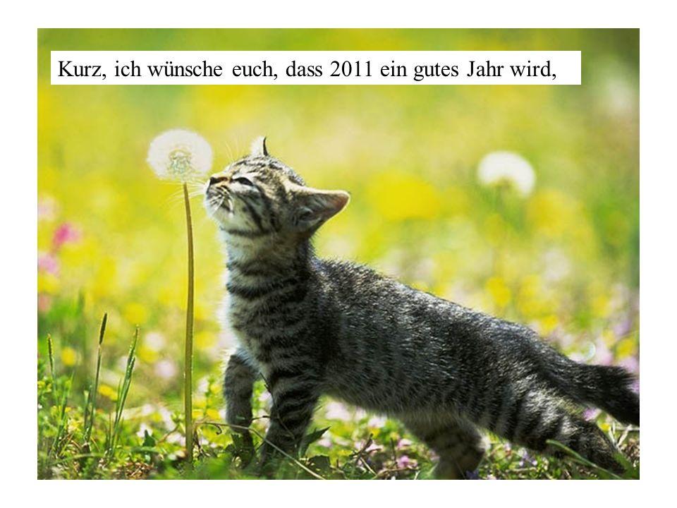 Kurz, ich wünsche euch, dass 2011 ein gutes Jahr wird,