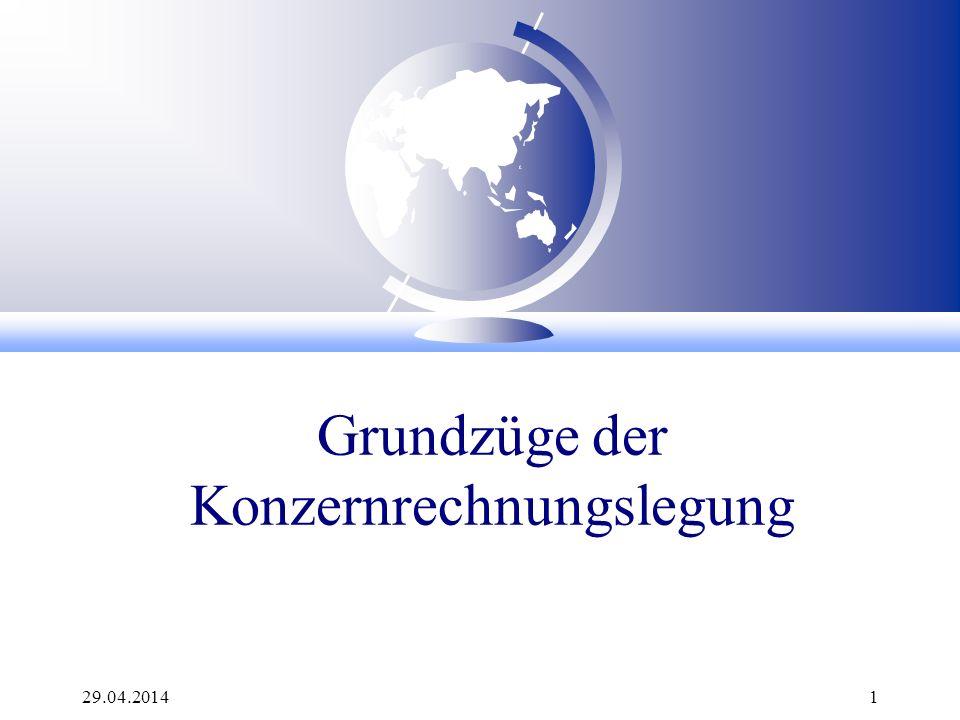 29.04.2014 72 Aufgabe: Kapital- konsolidierung bei < 100 % Anteile