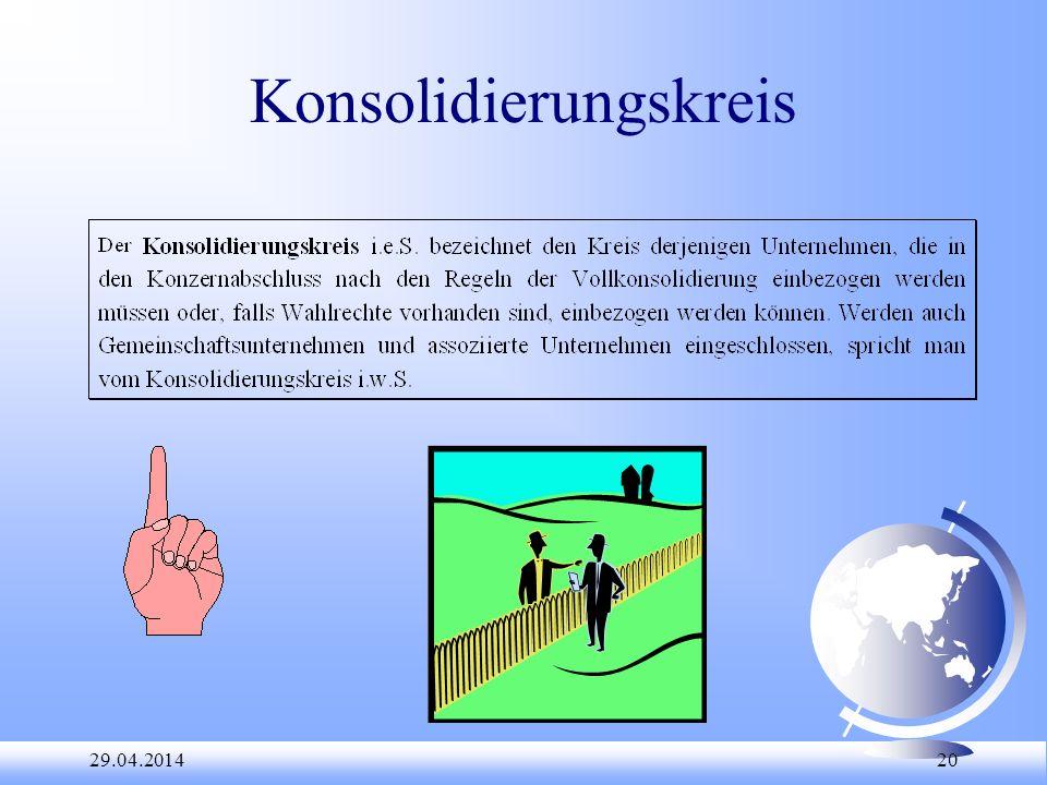 29.04.2014 20 Konsolidierungskreis