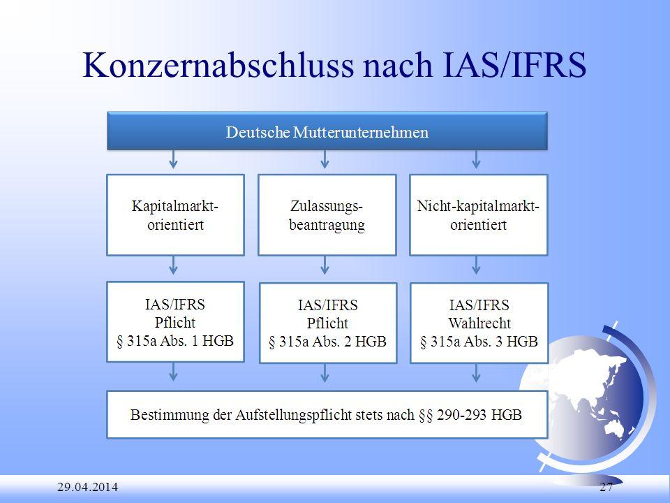 29.04.2014 27 Konzernabschluss nach IAS/IFRS