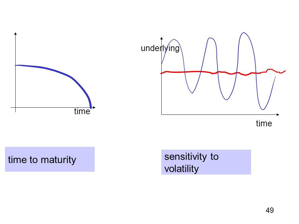 49 time to maturity sensitivity to volatility time underlying
