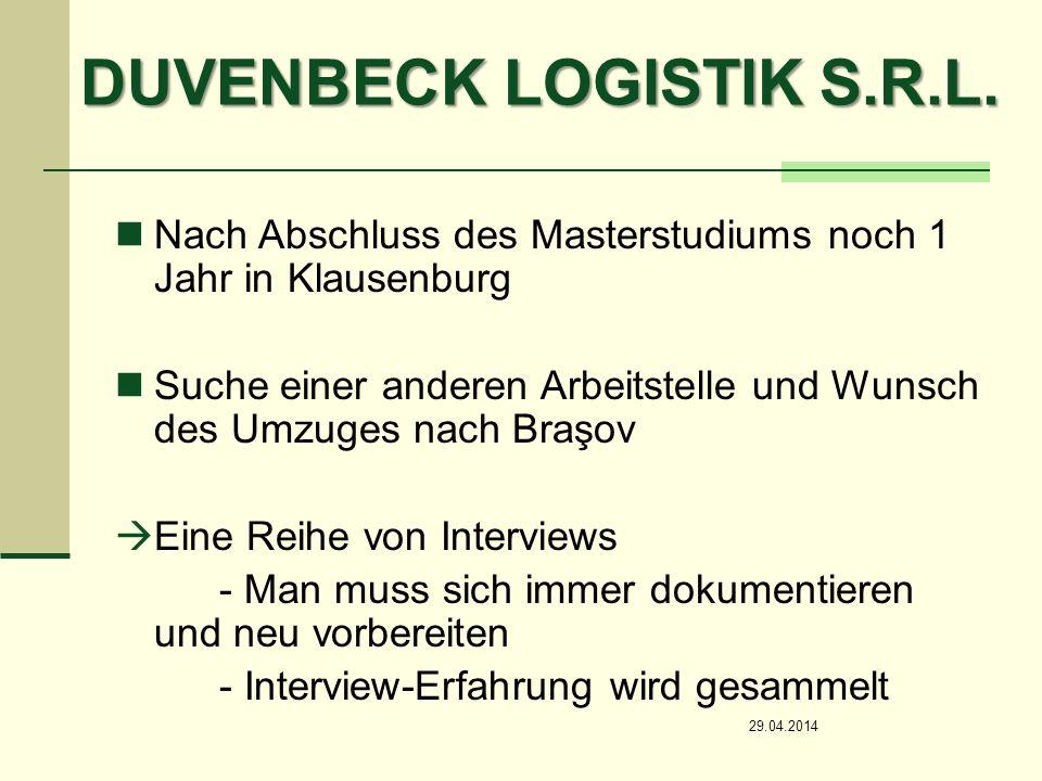 DUVENBECK LOGISTIK S.R.L.