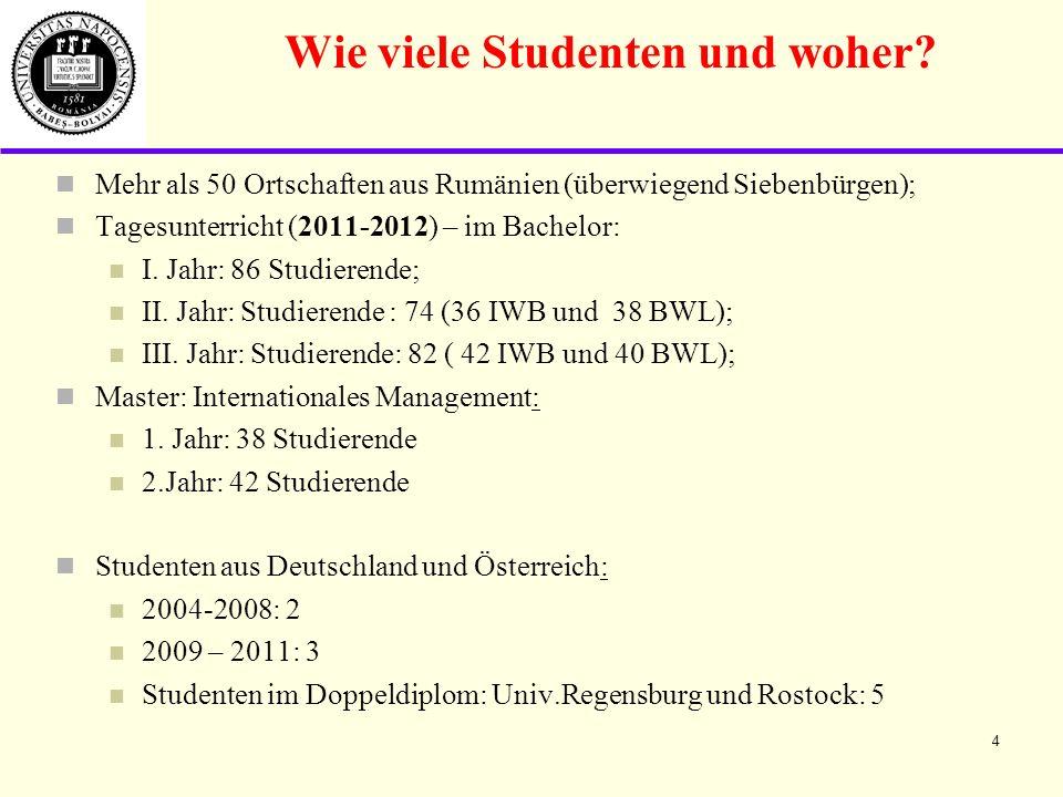 Wie viele Studenten und woher.