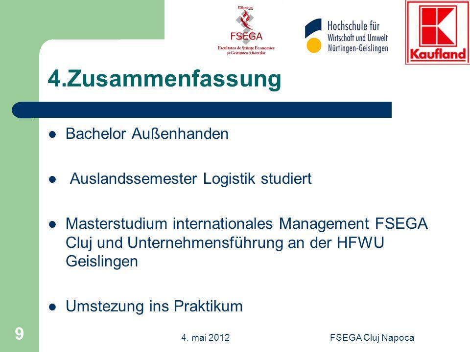 FSEGA Cluj Napoca 9 4.Zusammenfassung Bachelor Außenhanden Auslandssemester Logistik studiert Masterstudium internationales Management FSEGA Cluj und