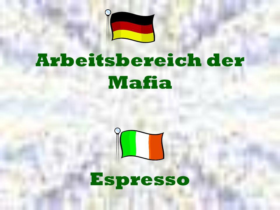 Espresso Arbeitsbereich der Mafia