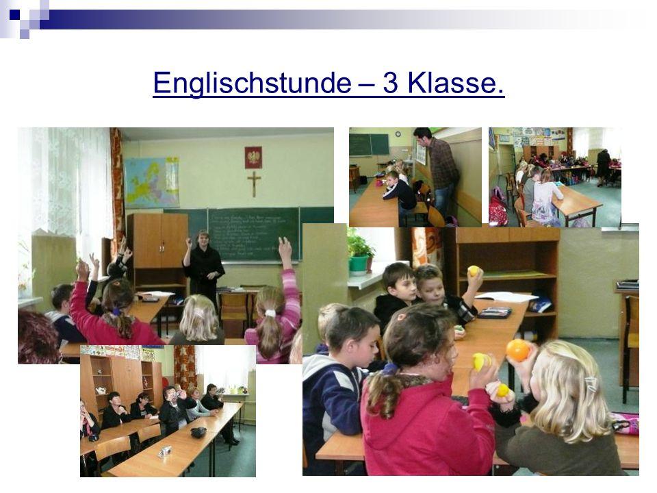 Englischstunde – 3 Klasse.