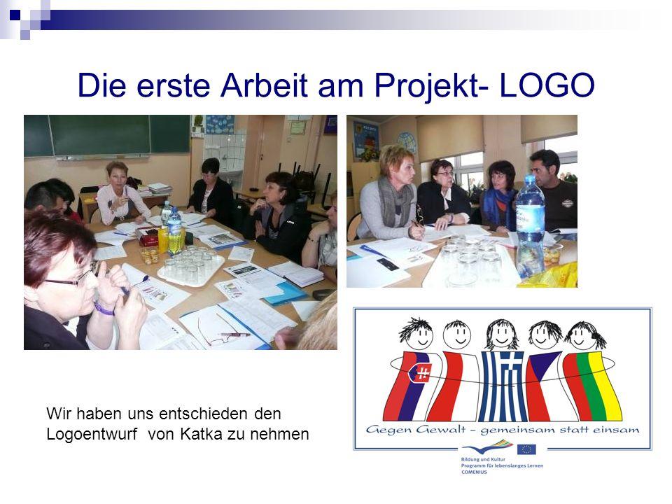 Die erste Arbeit am Projekt- LOGO Wir haben uns entschieden den Logoentwurf von Katka zu nehmen