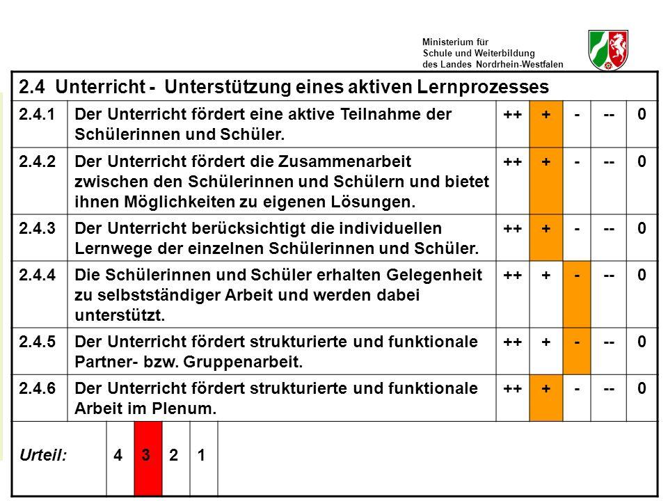 Ministerium für Schule und Weiterbildung des Landes Nordrhein-Westfalen TOS-Workshop, Kay Brügmann38 June 30 - July 2, 2008 2.4 Unterricht - Unterstüt