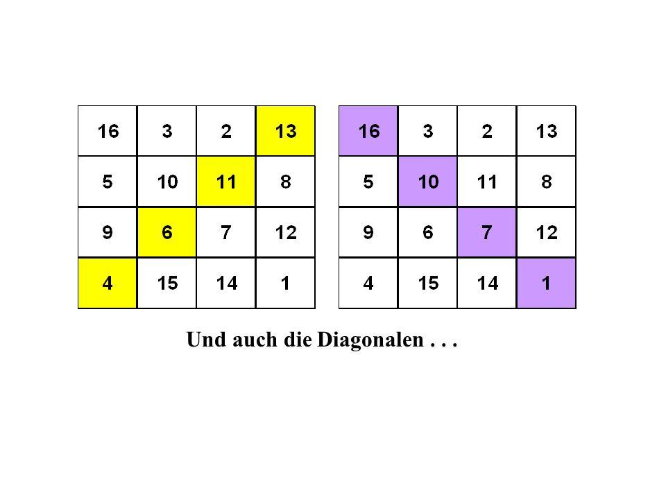 Und auch die Diagonalen...