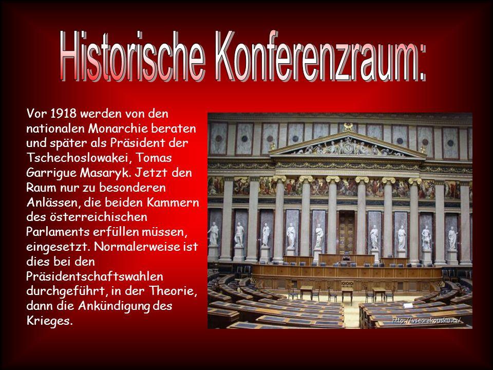 Vor 1918 werden von den nationalen Monarchie beraten und später als Präsident der Tschechoslowakei, Tomas Garrigue Masaryk.