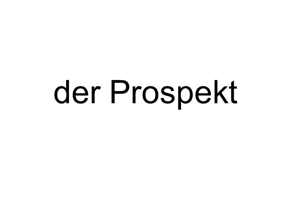 der Prospekt
