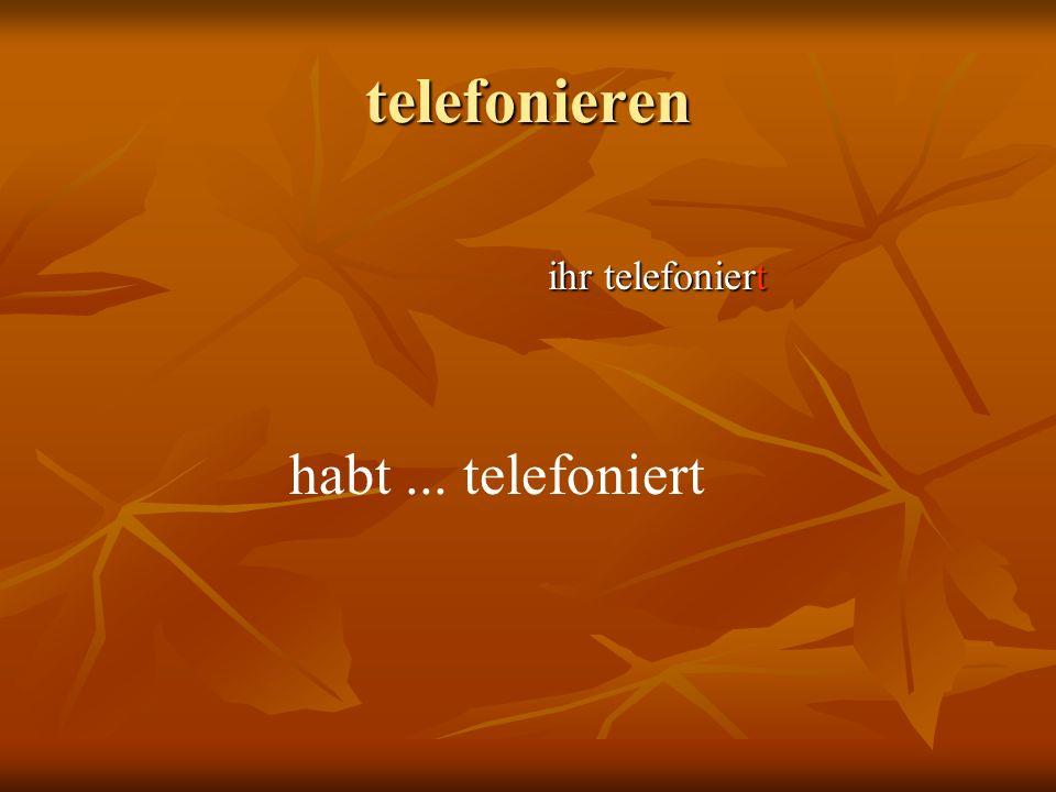 telefonieren wir telefonieren haben... telefoniert