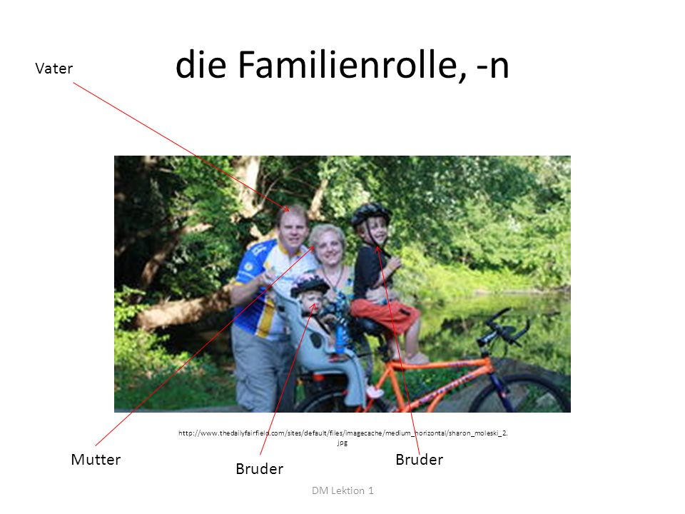 die Familienrolle, -n DM Lektion 1 http://www.thedailyfairfield.com/sites/default/files/imagecache/medium_horizontal/sharon_moleski_2.