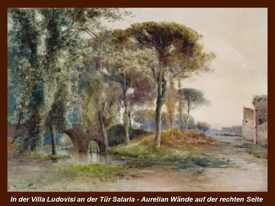 Der Tiber von Ponte Sisto. Auf der linken Seite die Gärten des Außenministeriums.