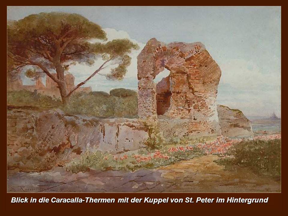In der Villa Ludovisi an der Tür Salaria - Aurelian Wände auf der rechten Seite