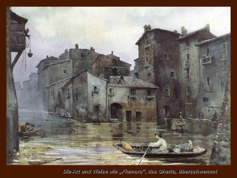 Bootfahren auf dem Fluss nach Milvischen Brücke mit der Kuppel von St. Peter im Hintergrund