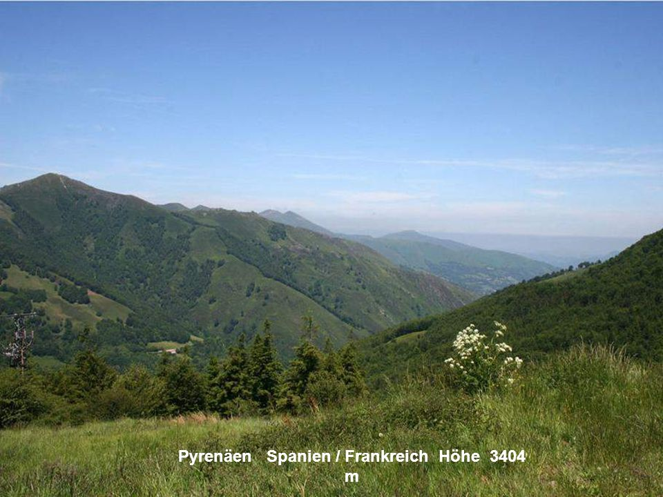 Sierra Nevada Spanien Höhe 3482 m