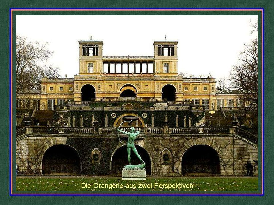 Rehgartenkolonade - Aquarell von J.F.Nagel 1792