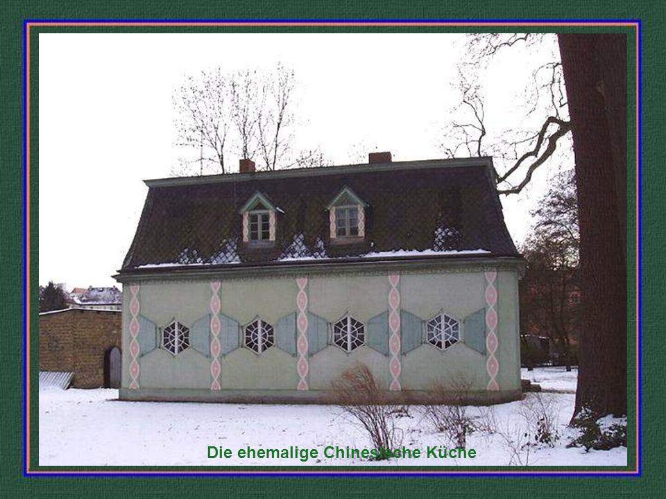 Die alte Küchenanlage als Ruine aufgebaut