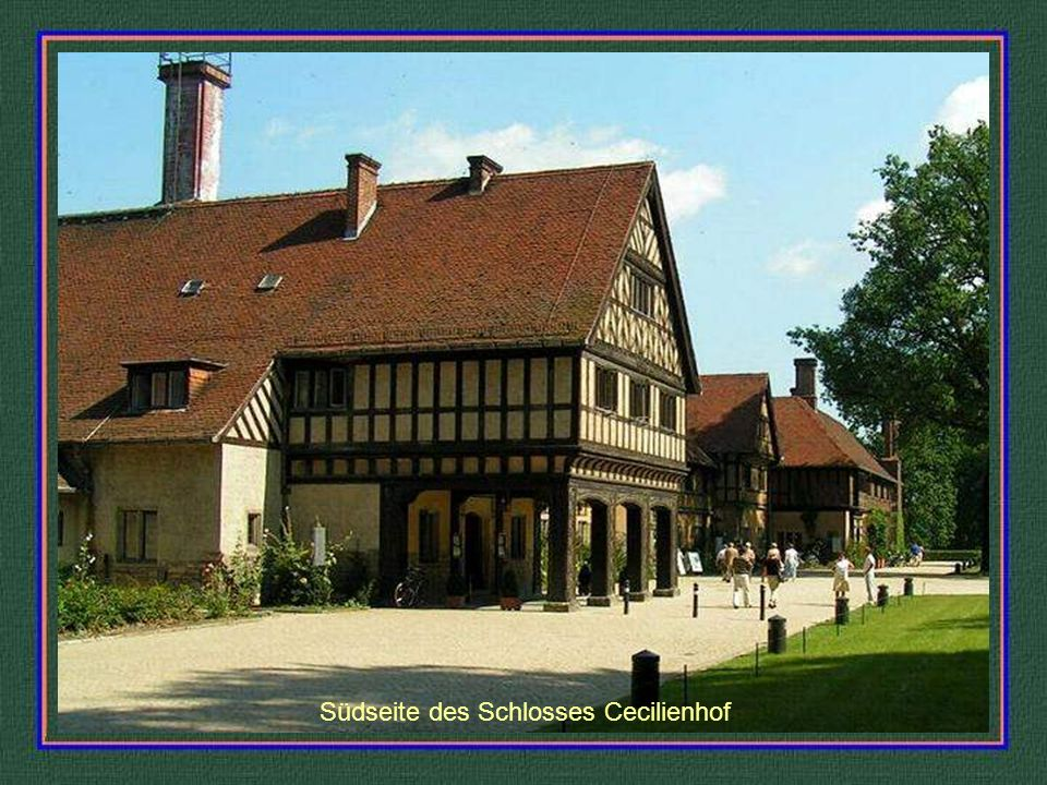 Hofansicht des Schlosses Cecilienhof