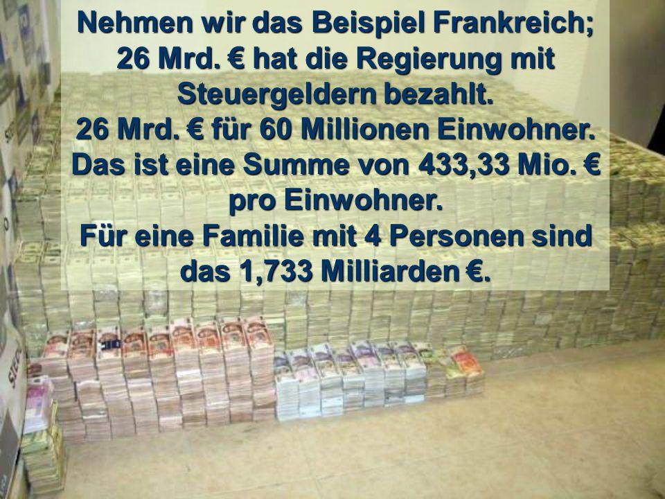 Hätte man also dieses Geld an jeden einzelnen Menschen auf der Welt verteilt, hätte man nicht nur die Armut besiegt, sondern jeder wäre zum Millionär geworden.