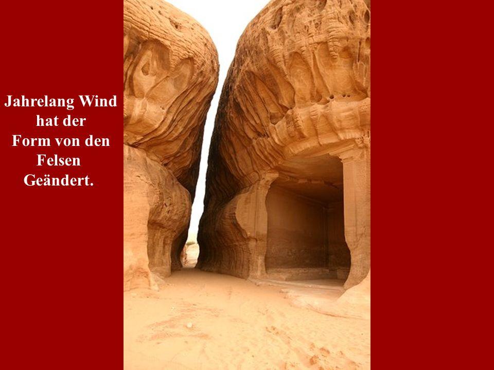 Jahrelang Wind hat der Form von den Felsen Geändert.