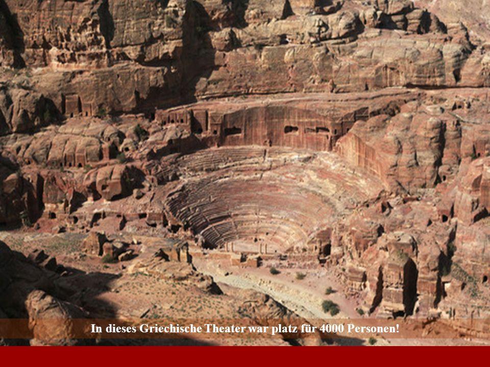 In dieses Griechische Theater war platz für 4000 Personen!