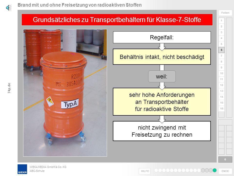 WEKA MEDIA GmbH & Co. KG ABC-Schutz ENDE HILFE 1 2 3 4 5 6 Folien 7 8 9 10 11 12 13 14 15 16 74p.de Informationen schnellstens aufnehmen, nach Relevan