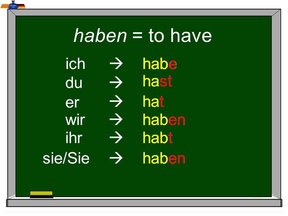 Vowel changes ich -e er -t wir -en ihr -t sie/Sie -en du -st e > i e > ie a > ä