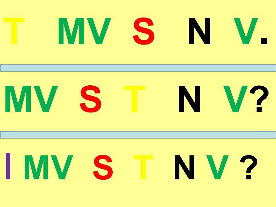 T MV S N V. MV S T N V? I MV S T N V ?