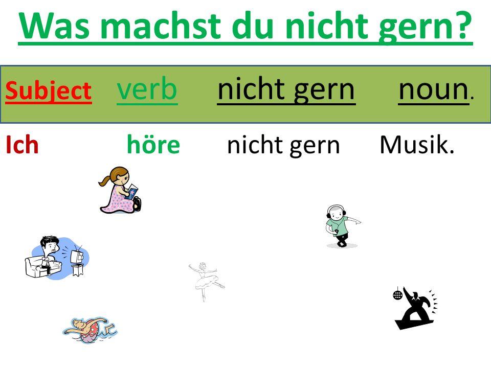 Stem Vowel Change Verbs: Practice 1.Ich _________________ in die Stadt.