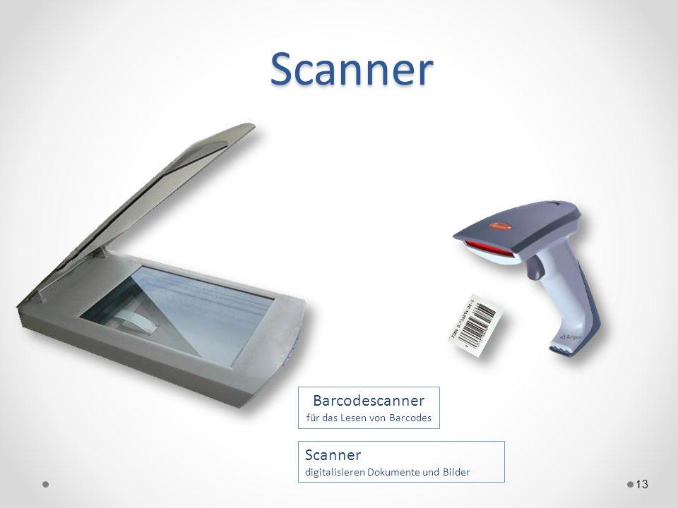Scanner 13 Scanner digitalisieren Dokumente und Bilder Barcodescanner für das Lesen von Barcodes