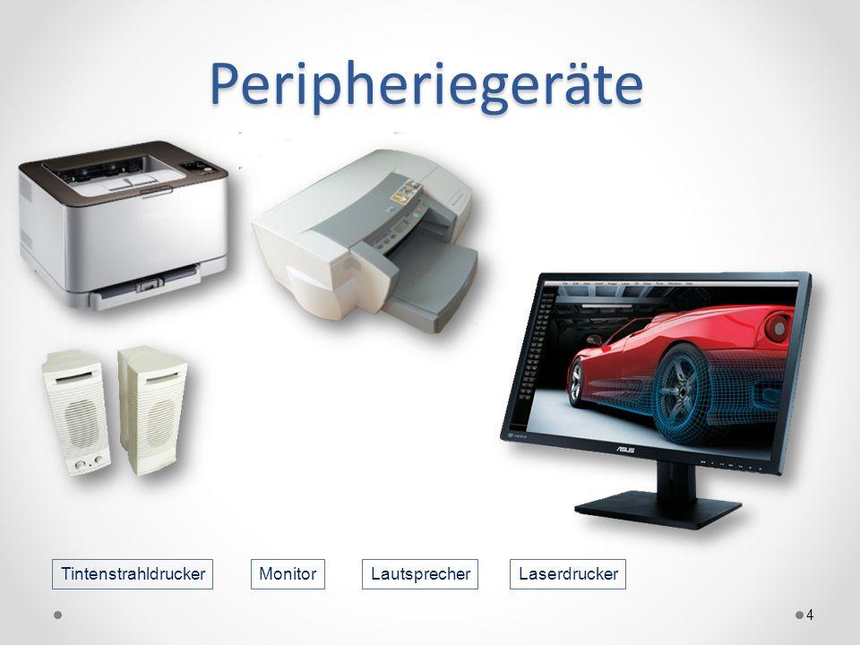 Peripheriegeräte 4 LaserdruckerTintenstrahldruckerLautsprecherMonitor