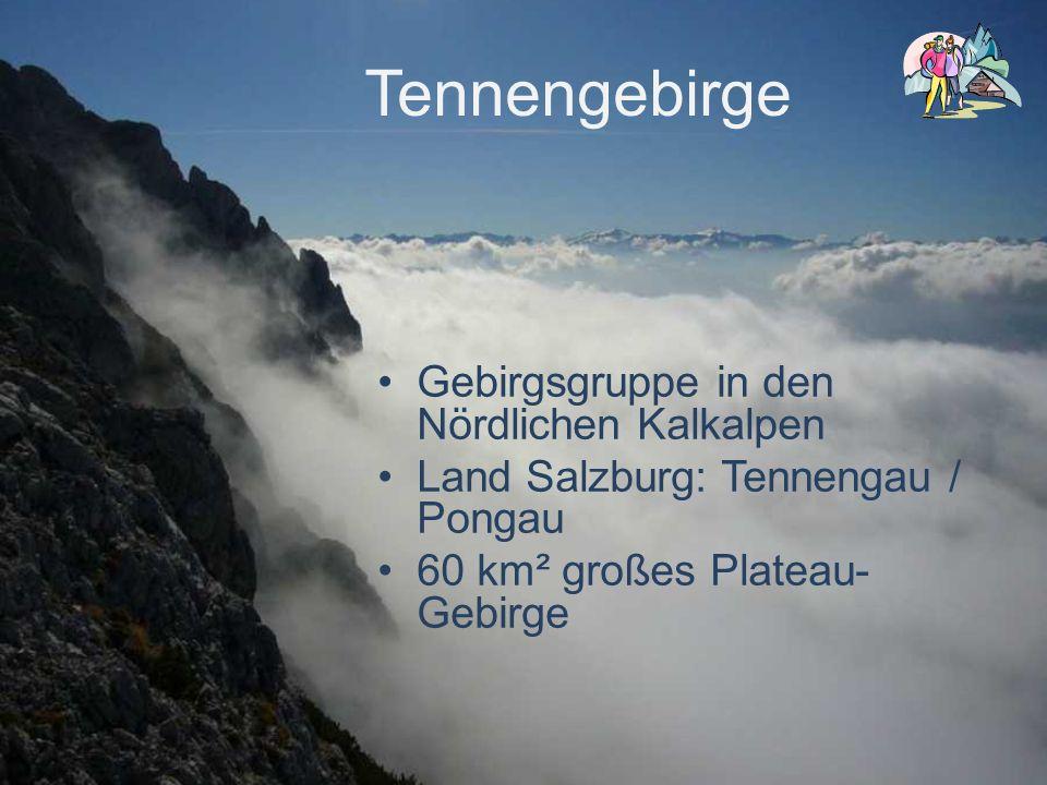 Gipfel im Tennengebirge Raucheck (höchster Gipfel)2430 m Bleikogel2412 m Werfener Hochthron2363 m Streitmandl2360 m Tiroler Kogel2324 m Eiskogel2321 m Wieselstein2300 m Tauernkogel2247 m