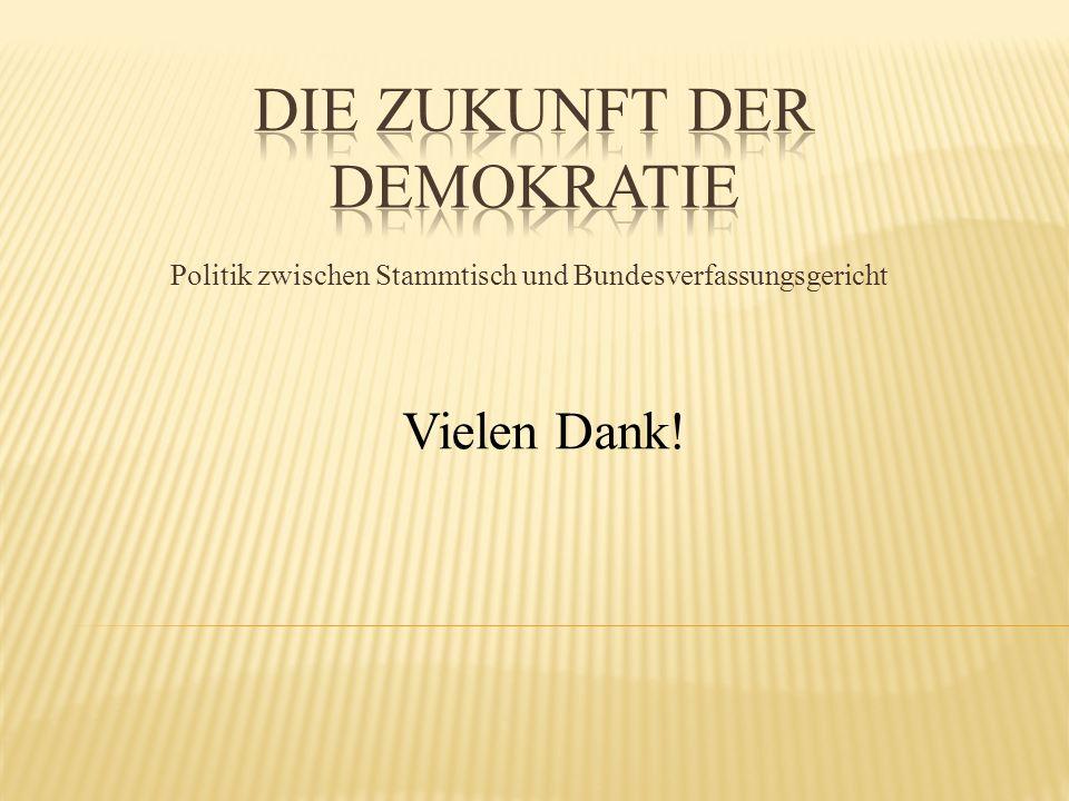 Politik zwischen Stammtisch und Bundesverfassungsgericht Vielen Dank!