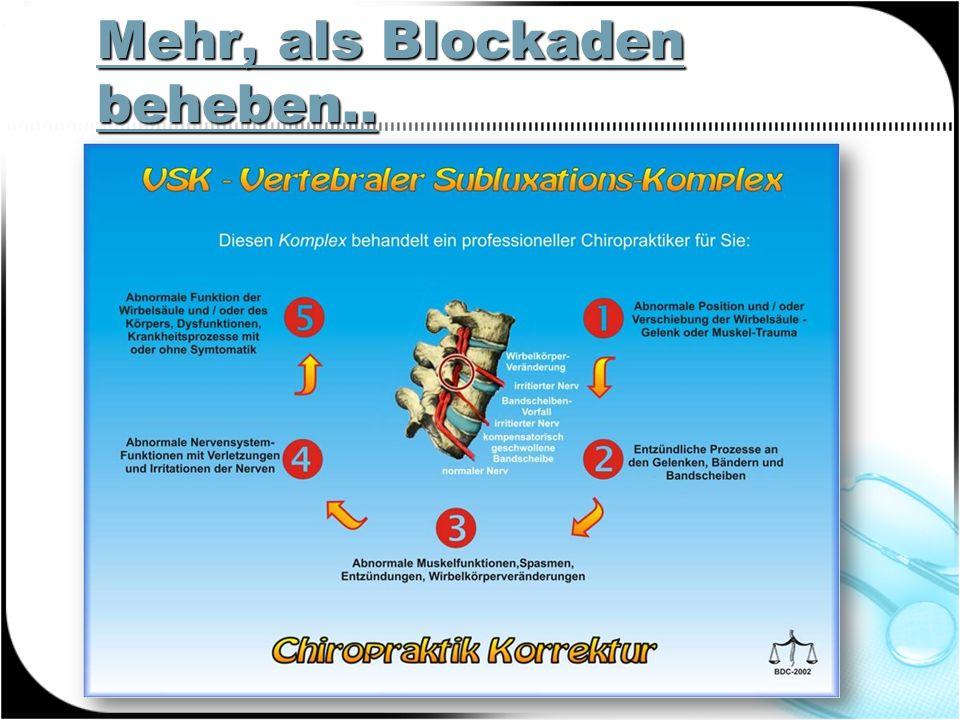 Mehr, als Blockaden beheben..