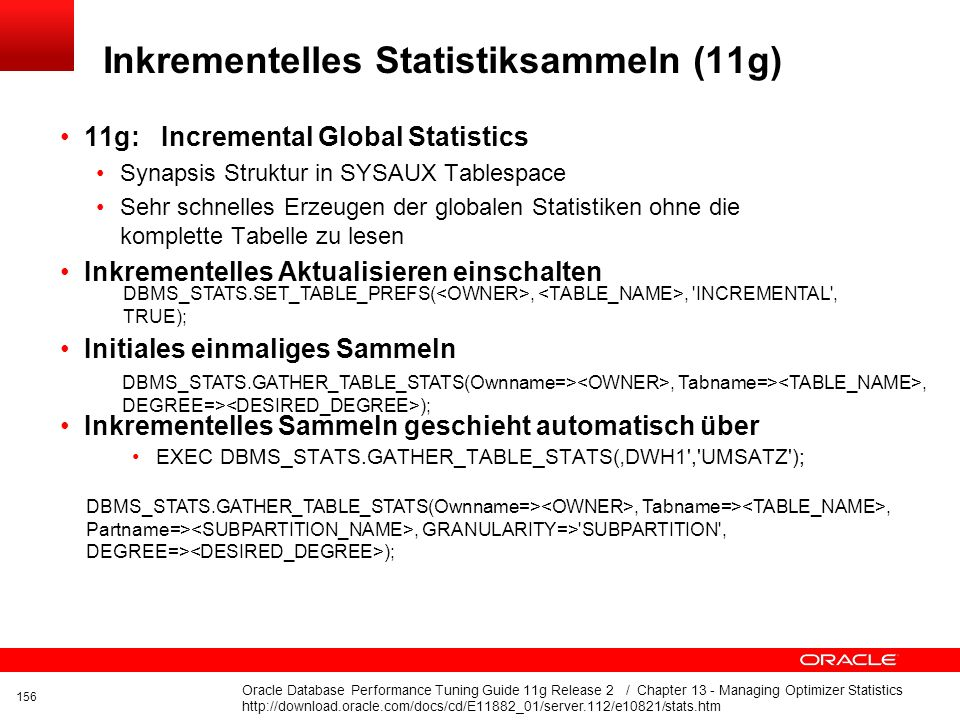 Click to edit title Click to edit Master text styles Insert Picture Here Sammeln von Statistiken Tabellen -> GATHER_TABLE_STATS Indexe -> GATHER_INDEX