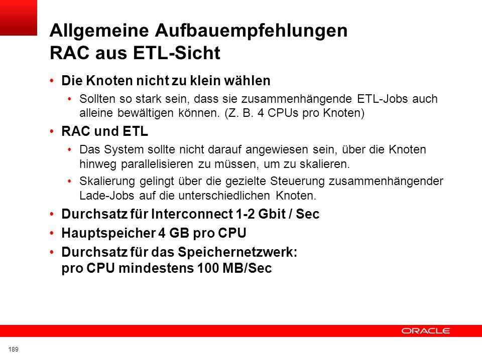Click to edit title Click to edit Master text styles Insert Picture Here Architektonische Vorteile RAC und ETL Voraussetzung ETL in der Datenbank Nur
